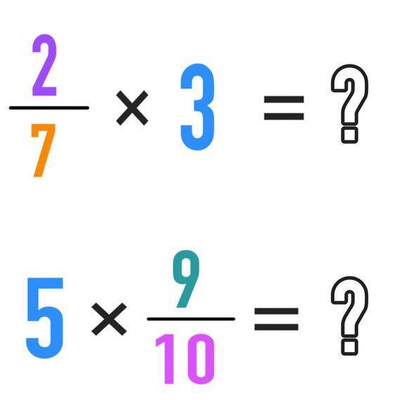 ضرب عدد در کسر و کسر در عدد